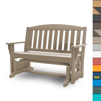 Glider Bench with Navy