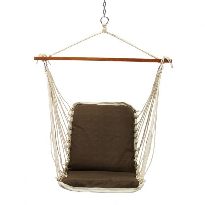 Cushioned Single Swing - Dominica Textured Harbor Brown - SDOMBR