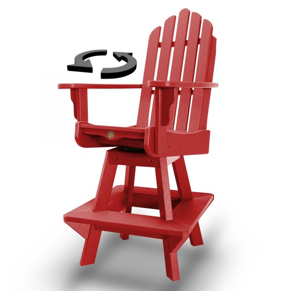 Swivel Counter Height Dining Chair - DWCCSWVC1-K-RED