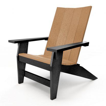 Hatteras Adirondack Chair - Black/Cedar - HHAC1-K-BLKCD