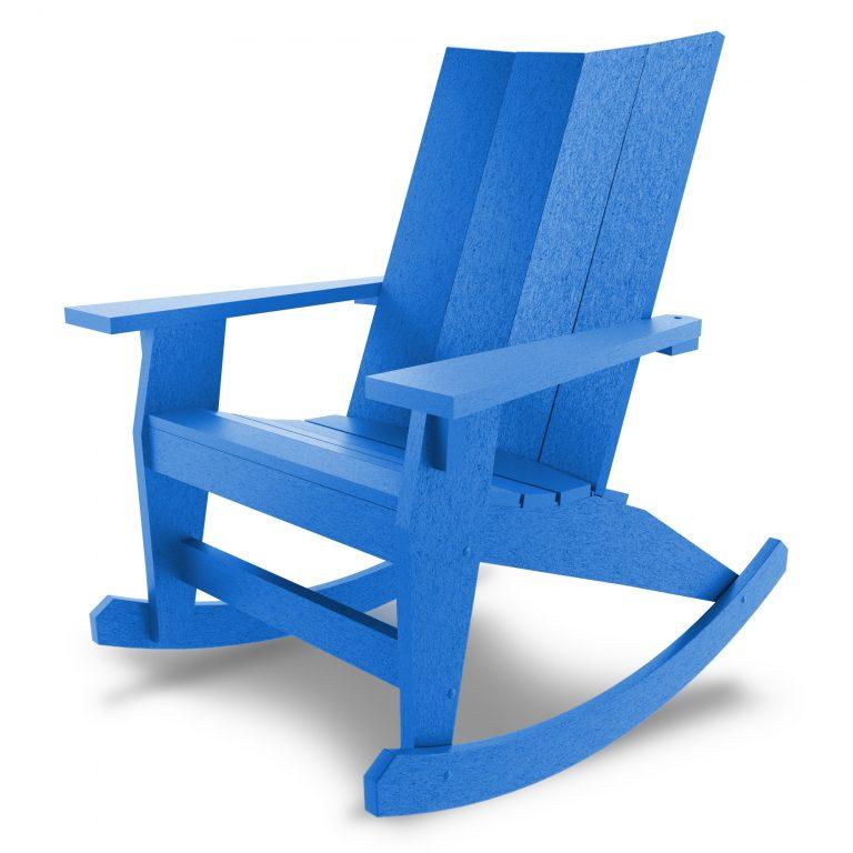Hatteras Adirondack Rocker - Blue - HHAR1-K-BLU