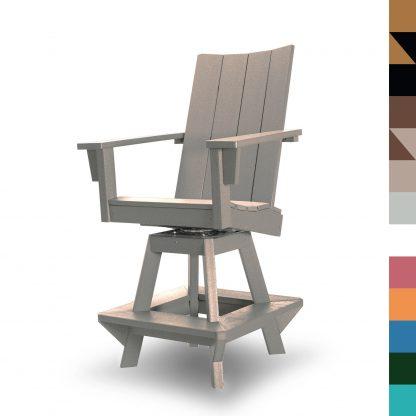 Swivel Counter Height Chair Weatherwood