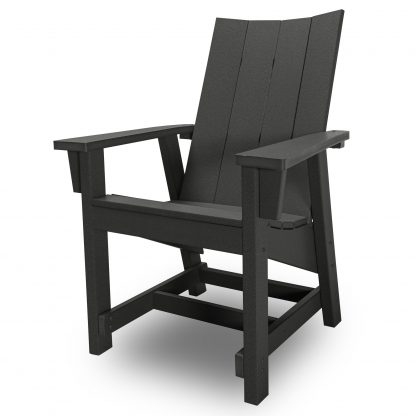 Hatteras Conversation Chair - Black - HHCV1-K-BLK