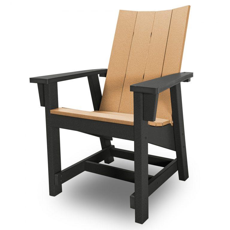 Hatteras Conversation Chair - Black/Cedar - HHCV1-K-BLKCD
