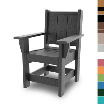 HHDCA1-K - Hatteras Dining Chair with Arms - Color blocks