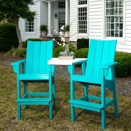 Bar Height Chair - Turquoise