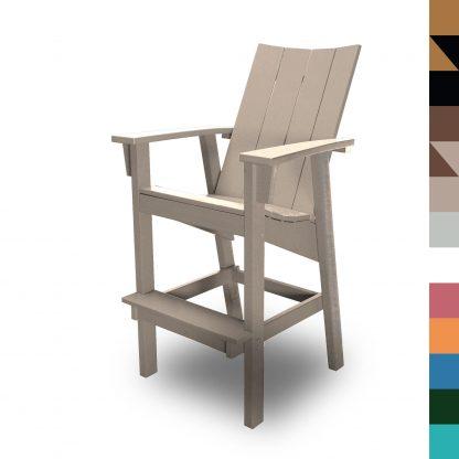 Bar Height Chair Weatherwood