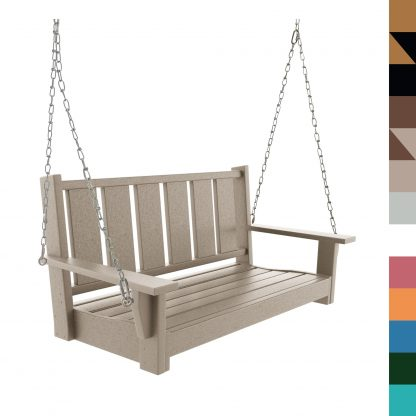 Durawood Bench Swing Weatherwood