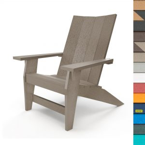 Refined Adirondack Chair with Navy