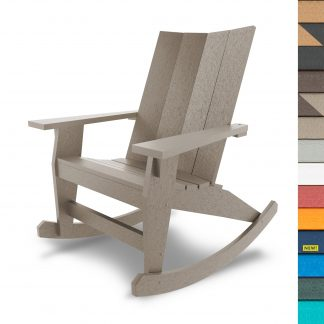 Refined Adirondack Rocker with Navy