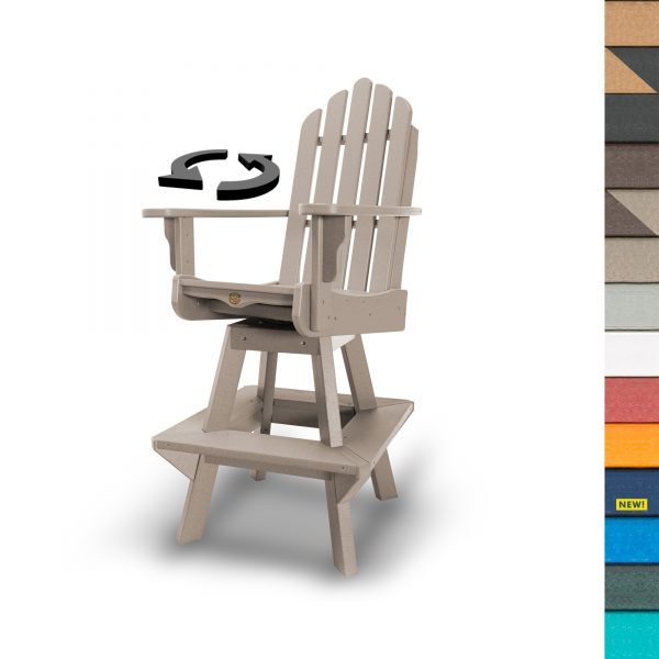 Swivel High Dining Chair with Navy