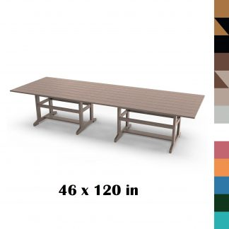 46 x 120 in Durawood Dining Table - Hatteras Hammocks