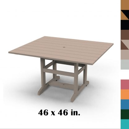 46 x 46 in Durawood Dining Table - Hatteras Hammocks