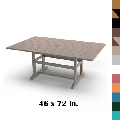 46 x 72 in Durawood Dining Table - Hatteras Hammocks