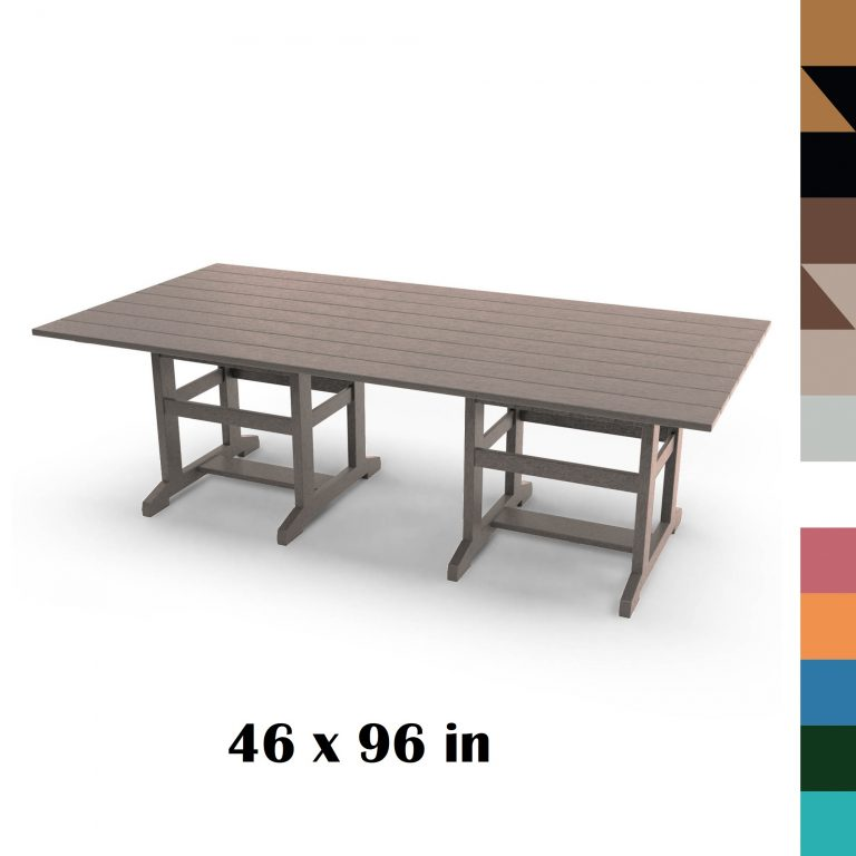 46 x 96 in Durawood Dining Table - HHDT96 - all colors