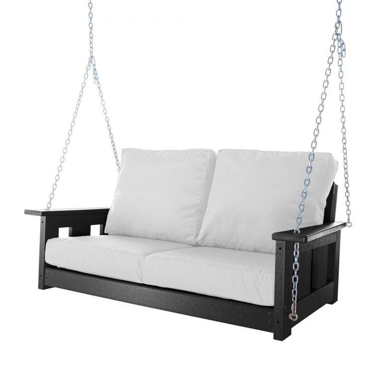 Deep Seating Bench Swing - Black