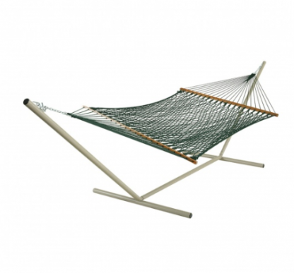 Deluxe Green Polyester Rope Hammock - PC-14PGCW