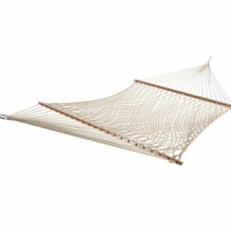 Deluxe Taupe Polyester Rope Hammock - PC-14PTCW