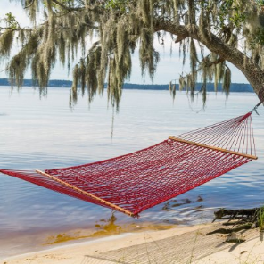 PC-11RD 45 in. Red Polyester Rope Hammock